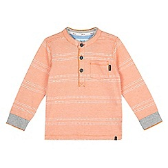 Baker by Ted Baker - Boys' orange textured stripe top
