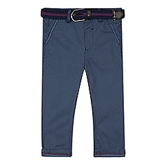Baker by Ted Baker - Boys' blue diamond print slim fit trousers and belt