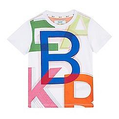 Baker by Ted Baker - Boys' white logo graphic print t-shirt
