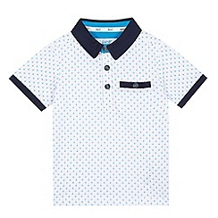 Baker by Ted Baker - Boys' white diamond print polo shirt