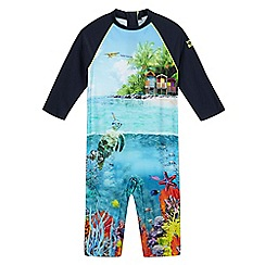 Baker by Ted Baker - Boys' beach scene sunsafe swimsuit