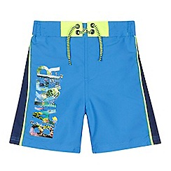Baker by Ted Baker - Boys' blue sea logo swim shorts