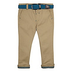 Baker by Ted Baker - Boys' beige chinos with belt