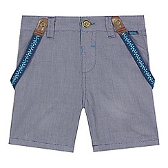 Baker by Ted Baker - Boys' navy textured shorts and braces set