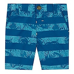 Baker by Ted Baker - Boys' blue palm tree striped print shorts
