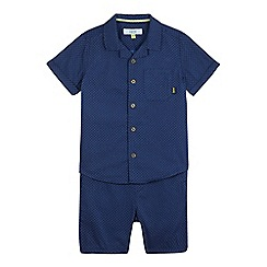 Baker by Ted Baker - Boys' navy geometric print shirt & shorts set