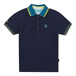 Baker by Ted Baker - Boys' navy striped collar polo shirt
