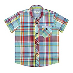 Baker by Ted Baker - Boys' blue checked short sleeved shirt