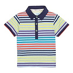 Baker by Ted Baker - Boys' navy striped polo shirt