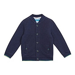 Baker by Ted Baker - Boys' navy quilted sweat bomber jacket