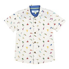 Baker by Ted Baker - Boys' white tree frog print shirt