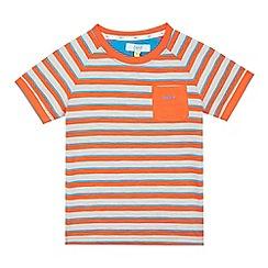 Baker by Ted Baker - Boys' orange striped t-shirt
