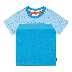 Baker by Ted Baker - Boys' blue jacquard t-shirt