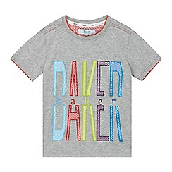 Baker by Ted Baker - Boys' grey graphic logo applique t-shirt