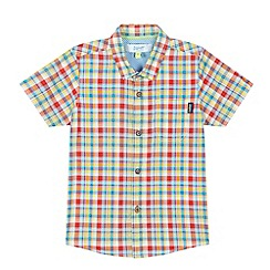 Baker by Ted Baker - Boys' red checked shirt