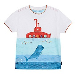 Baker by Ted Baker - Boys' white submarine print t-shirt