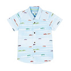 Baker by Ted Baker - Boys' light blue airplane print shirt