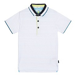 Baker by Ted Baker - Boys' white textured stripe polo shirt