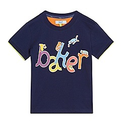 Baker by Ted Baker - Boys' navy frog print t-shirt