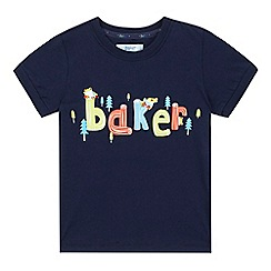 Baker by Ted Baker - Boys' navy tree frog logo print t-shirt
