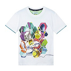 Baker by Ted Baker - Boys' white hexagon graphic t-shirt
