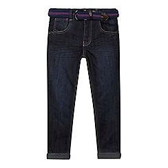 Baker by Ted Baker - Boys' blue slim fit jeans and woven belt