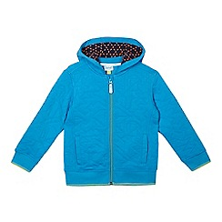 Baker by Ted Baker - Boys' blue quilted zip through hoodie