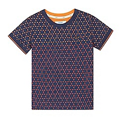 Baker by Ted Baker - Boys' navy geometric print top