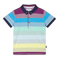 Baker by Ted Baker - Boys' grey block striped polo shirt