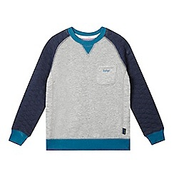 Baker by Ted Baker - Boys' grey quilted jumper