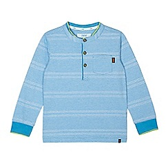 Baker by Ted Baker - Boys' blue textured stripe top