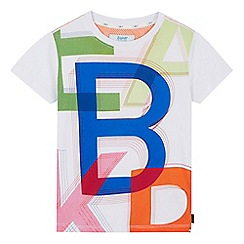 Baker by Ted Baker - Boys' white logo graphic print t-shirt