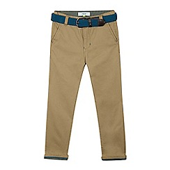 Baker by Ted Baker - Boys' beige belted chinos