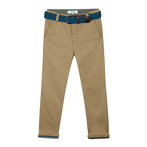 Baker by Ted Baker - Boys+ beige belted chinos
