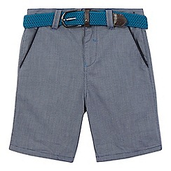 Baker by Ted Baker - Boys' grey microdot belted shorts