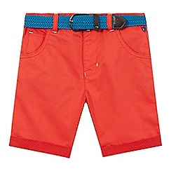 Baker by Ted Baker - Boys' red belted shorts
