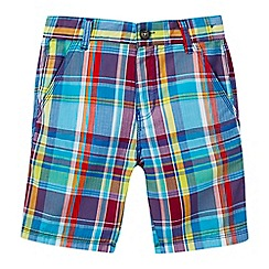 Baker by Ted Baker - Boys' multi-coloured checked print shorts