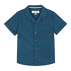 Baker by Ted Baker - Boys' turquoise geometric print short sleeve shirt