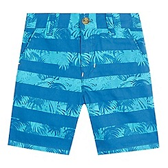 Baker by Ted Baker - Boys' blue Hawaiian striped shorts