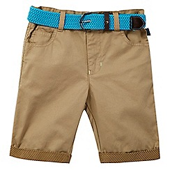 Baker by Ted Baker - Boys' tan belted chino shorts