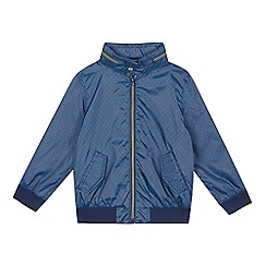 Baker by Ted Baker - Boys' navy geometric print Harrington jacket