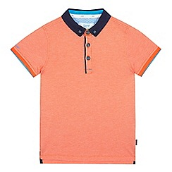 Baker by Ted Baker - Boys' orange textured polo shirt
