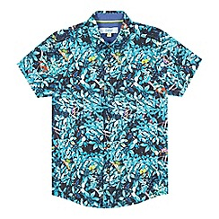 Baker by Ted Baker - Boys' turquoise jungle shirt