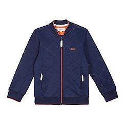 Baker by Ted Baker - Boys' navy punch quilted bomber jacket