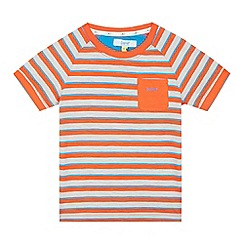 Baker by Ted Baker - Boys' orange striped t-shirt