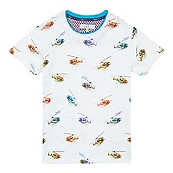 Baker by Ted Baker - Boys' white marl helicopter print t-shirt