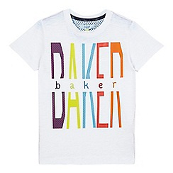 Baker by Ted Baker - Boys' white Baker logo t-shirt