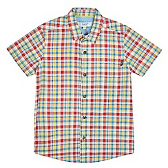 Baker by Ted Baker - Boys' red and green checked shirt