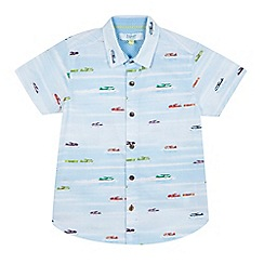 Baker by Ted Baker - Boys' light blue plane print shirt