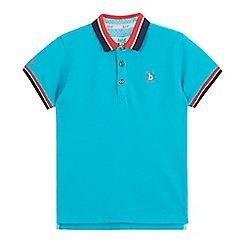 Baker by Ted Baker - Boys' turquoise logo applique polo shirt